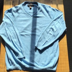 Tasso Elba light blue sweater XL